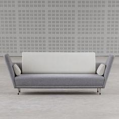 Finn Juhl was a Danish design pioneer. His 57 sofa was introduced in Tivoli in… Furniture Styles, Sofa Furniture, Vintage Furniture, Modern Furniture, Furniture Design, Eclectic Furniture, Sofa Design, Interior Desing, Mid Century Modern Design