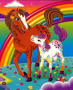 Rainbowchaser and her little sis lollipop lisa frank unicorn, lisa frank st Lisa Frank Unicorn, Lisa Frank Stickers, Cool Artwork, Childhood Memories, Fantasy Art, 90s Kids, Whimsical, Dinosaur Stuffed Animal, Moose Art
