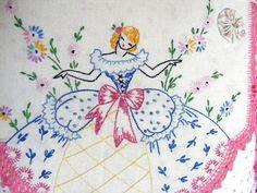 Vintage Southern Belle Pink Rose Pink Polka Dots Shabby Chic