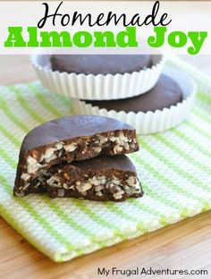 Homemade Almond Joy Recipe Clean Eating Recipe! - These are so simple and you won't believe how delicious they are!  Make extra because they will be gone in a flash!
