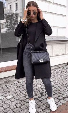 Danielle Blazer Dress Black - Outfit - The Fashion Blazer Fashion, Winter Fashion Outfits, Look Fashion, Spring Outfits, Autumn Fashion, Womens Fashion, Dress Fashion, Fashion Black, Fashion Clothes