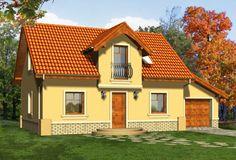 Wizualizacja KR Bingo z garażem CE Bingo, Home Fashion, House Plans, Cabin, House Styles, Hooks, Home Decor, Home Plans, Cabins