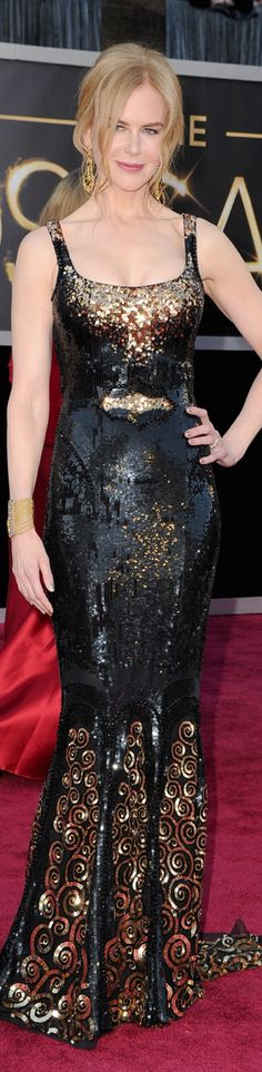 ~Nicole Kidman wearing a Balenciaga gown on the 2013 Oscar Red Carpet | The House of Beccaria#