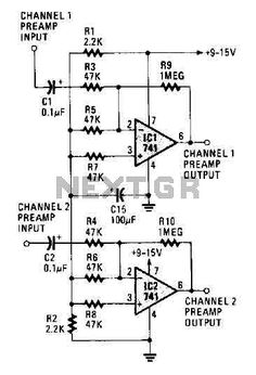 hi fi stereo preamplifier circuit schematic diagrams pinterest rh pinterest com Mic Preamp Schematic Fender Tube Preamp Circuit