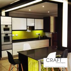 Add a splash of colour to brighten up your kitchen. Glass Splashbacks, Color Splash, Vanity, Colour, Interior, Kitchen, Table, Furniture, Design