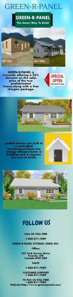 Prefab cabins from green r panel building systems inc meets any budget and helps in speeding up the construction of your home it also makes your