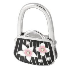Amico Flower Prints Black Silver Tone Bag Shaped Metal Folding Handbag Hook by Amico. $6.34. Style : Foldable;Suitable for : Lady;Pattern : Floral Prints. Net Weight : 65g;Package Content : 1 x Handbag Hanger. Folded Size : 4.5 x 1 x 6.5cm / 1.8 x 0.4 x 2.5inches(L*W);Size : Small;Height : 9.5cm / 3.7inches. Brand : SourcingMap;Size Type : Regular;Color : Black. Exact Color : Pink,Silver Tone;Shade : Black;Material : Plastic, Metallic. Unfold the hook to hang hangbag or purse...