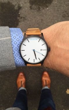 Men's Black cased Tan leather watch from MVMT Watches. This Tan leather version is a versatile watch, fitting in casual, formal and professional setting Mvmt Watches, Luxury Watches, Cool Watches, Watches For Men, Wrist Watches, Cheap Watches, Mens Watches Leather, Casual Watches, Style Masculin