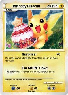 pokemon birthday | Pokémon Birthday Pikachu 5 5 - Surprise! - My Pokemon Card