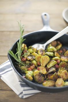 Gluten-Free Maple Glazed Brussels Sprouts Recipe with Pancetta