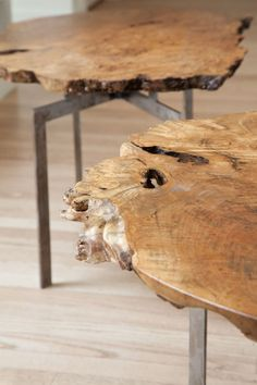 Undermountain Woodworks - the most beautiful natural slab tables you'll ever see!