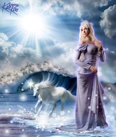 Lady Amalthea [also as the Unicorn] (Cosplay by Usagi-Tsukino-Krv @deviantART) #TheLastUnicorn