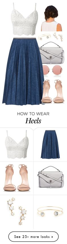 """Sheek- skirt/heels/crop top"" by wiertzemasue24 on Polyvore featuring Christopher Kane, Rebecca Minkoff, Leur Logette, Stuart Weitzman, Nadri and Sole Society"