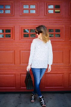 the perfect cold shoulder top    www.polishedclosets.com