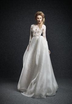 Stunning long sleeves and LOVE that bodice!