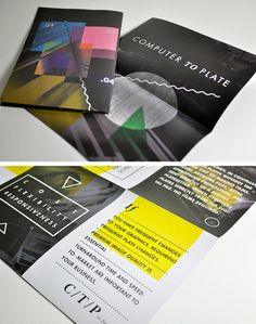 Geometric designs are the way forward | 50 Beautiful Printed Brochure Designs For Your Inspiration