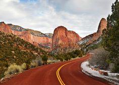 utah-love:  roads in Kolob Zion National Park january 20132 (by...