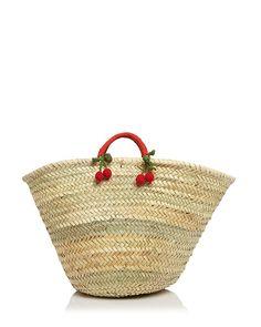Caterina Bertini Straw and raffia bag, $58; bloomingdales.com