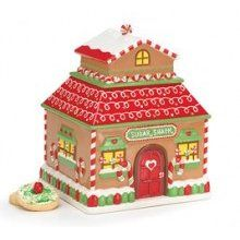 Gingerbread house cookie jar. Want!