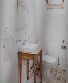 Sød ide til det lille badeværelse, gæstetoilet eller sommerhuset