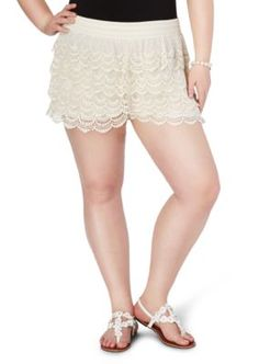 Plus Tiered Crochet Short | rue21