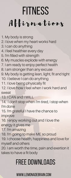 Healthy Body Affirmations: Affirmations that changed my life  - Lemonade Brain #EasyMeditation