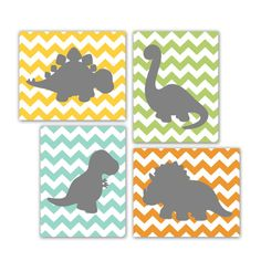 Hey, I found this really awesome Etsy listing at http://www.etsy.com/listing/121961753/dinosaur-prints-set-of-4-8x10-chevron