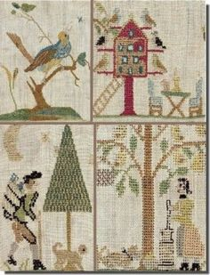 The title of this cross stitch pattern is ATS 1871 Sampler from Saxony and is designed by de GiGi R.  The cross stitch pattern is stitched with Gentle Art Sampler threads