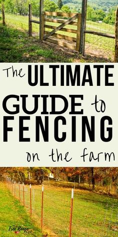 The Ultimate Guide to Your Farm Fencing Options Homestead and Survival: Learn all you need to know about fencing on the farm so you can build the exact fence you need for the cost you want Diy Garden Fence, Farm Fence, Horse Fence, Garden Ideas, Pasture Fencing, Garden Benches, Wood Fences, Rustic Fence, Bamboo Garden