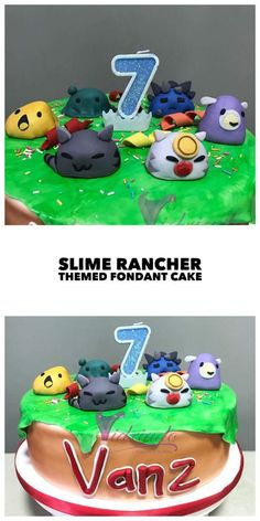 Who likes slimes? Well maybe not all of us. But who could resist these cute slimeys from Slime Rancher? #fondantcake #cake #fondant #baking #slimerancher #slime
