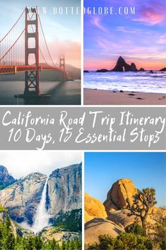 10 Days California Road Trip Itinerary: From the Pacific to the Redwoods! : Looking for the best California Road Trip Itinerary? Read this now! california usa america californiaroadtrip travel roadtrip sanfrancisco LA yosemite joshuatree via c Pacific Coast Highway, East Coast Road Trip, Oregon Road Trip, Us Road Trip, Route 66 Road Trip, Road Trip Packing, Family Road Trips, Highway Road, Family Vacations