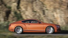 2015 Bentley Continental GT Speed coupe profile on road