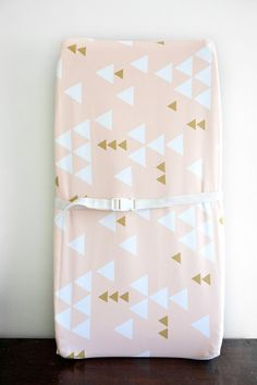 Little Woolf Contour Changing Pad Cover in Blush by littlewoolf, $45.00