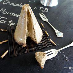 Peanut Butter & Chocolate Cheesecake: vegan, gluten free, no bake.
