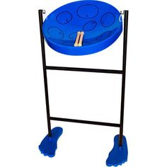 Jumbie Jam Steel Drum Blue with Sticks, Stand, Book and Bag