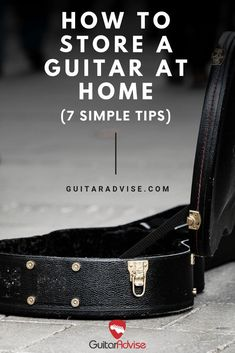 Learn how to properly store your guitar at home with 7 simple tips that will help extend your guitar's life and keep it playing like new for years to come. Guitar Kits, Music Guitar, Guitar Chords, Playing Guitar, Acoustic Guitars, Ukulele, Learning Guitar, Guitar Room, Acoustic Music