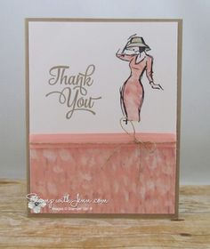 Beautiful You stamp set with Paper Piecing technique.  Blushing Bride Accents.