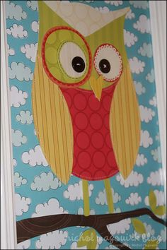 Paper Owl art -- I think I want this on my door at the beginning of the school year.