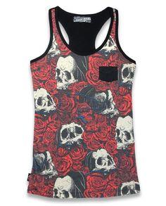 Liquor Brand Damen Tank Top Rosary.Tattoo,Biker,Pin up,Rockabilly,Custom Style