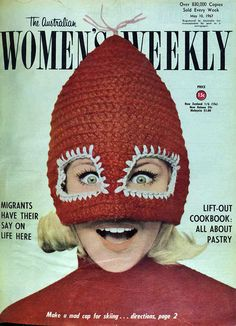 Make a mad cap for skiing, The Australian Woman's Weekly, 1967