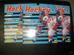 1989-90 PANINI HOCKEY STICKER ALBUMS ~ 3 TOTAL