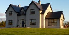 New Builds Kildare House Outer Design, Two Story House Design, Country House Design, Bungalow House Design, House Layout Plans, Dream House Plans, House Layouts, House Designs Ireland, House Ireland