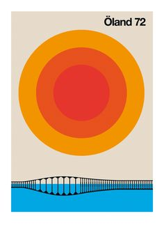 Vintage Graphic Design Swedish inspired Country Graphic Design Poster by Bo Lundberg Vintage Graphic Design, Graphic Design Posters, Graphic Design Typography, Graphic Design Inspiration, Circle Graphic Design, Geometric Graphic, Poster Designs, Minimalist Graphic Design, Graphic Designers