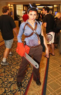 I only liked Army of Darkness, but this looks easy and awesome. :: Female Ash cosplay. This...may happen...