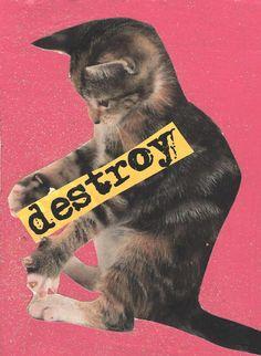Destroy ART PRINT by TheEscapistArtist on Etsy, $4.00