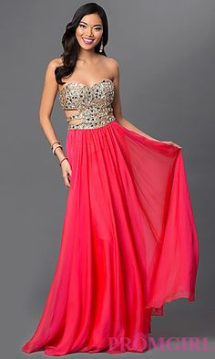 Cut Out Prom Gown by La Femme 18602 at PromGirl.com