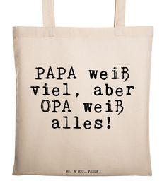 Jutebeutel - Tragetasche - Papa, Opa, Familie, Großeltern, ... - ein Designerstück von panda-spruchreif bei DaWanda