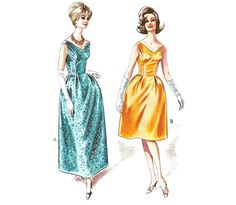 Style 1437  Vintage Sewing Pattern 1960s  Dress by RockItLikeBetty
