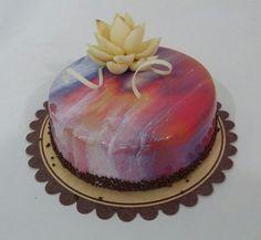 #glaçagem #glaze #chocolate #flordechocolate #flower #amarela #branca #azul #vermelha #roxo #sejafoda #feliperochadecorcakee