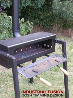 rocket stove and grill Outdoor Oven, Outdoor Cooking, Jet Stove, Shop Heater, Diy Wood Stove, Fire Pit Grill, Fire Pits, Stove Accessories, Steel Fabrication